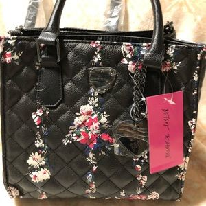 NWT Betsey Johnson floral purse